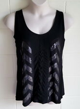 """CITY CHIC"" SIZE L (18-20) EC, BLACK TOP, SEQUIN DETAIL"