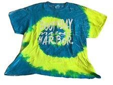 BOOTHBAY HARBOR MAINE Womens Blue & Yellow Swirl Tie Dye T Shirt Adult XL NWOT