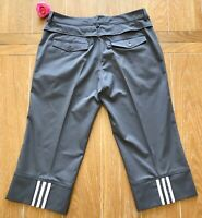Adidas Clima Cool Women's Gray Athletic Stretch Capri Pants Sz 4