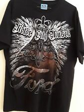 Ford Mens T-Shirt Sz Large Short Sleeve Black Ford Motor City Muscle