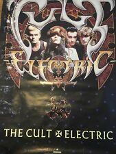 The Cult Electric Hipgnosis Design Rare Promo Poster 1987