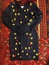 NWT Xhilaration UGLY CHRISTMAS SWEATER DRESS NAVY SIZE XS small LIGHTS HOLIDAY