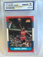 1996-97 Fleer Michael Jordan Ultra Decade Of Excellence #U4 Rookie Card Graded
