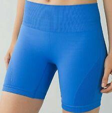 Nwt  00000C69 $58 Lululemon Sz 2 Blue Pdbl Sculpt Short Shorts Yoga Tennis Biking Running