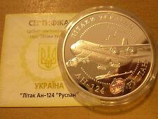 New listing 20 Uah Ukraine 2005 Aircraft An-124 Ruslan Silver 62.2g Ag .925 Proof