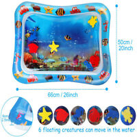 Baby Inflatable UE Time Sea World Toddlers Infants Water Play Mat Fun Tummy LZ