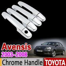 Chrome Door Handle Coverf or Toyota Avensis 2003 - 2008  T250 T25 2004 2005 2006