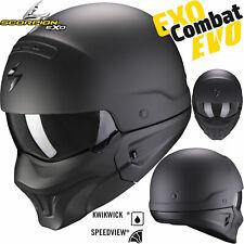 SCORPION Jethelm EXO-COMBAT EVO Street-Fight getönte Sonnenblende Maske L 58/59