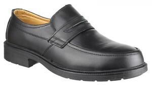 Mens Amblers Slip-On Safety Shoes Steel Toe. Coated Leather Uppers