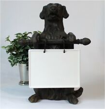 Cute Standing Dog Statue with Ceramic area for Notes Messages Kitchen