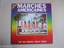 """VINYLE -Double 33 Tours """" MARCHES AMÉRICAINES """"  USA / DISQUE / MILITAIRE"""