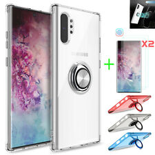 For Samsung Galaxy Note 10 Plus/10+ 5G Ring Stand TPU Case/2pcs Screen Protector
