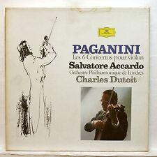 SALVATORE ACCARDO - PAGANINI the 6 violin concertos DGG 5xLPs box EX++