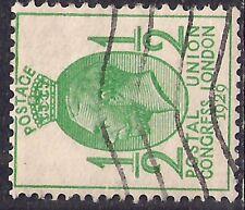GB 1929 KGV 1/2d Green UPU Congress Sideway Wmk SG 434a ( M1134 )