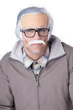 Rude Grandpa Old Man Costume Wig