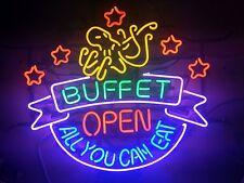 "New Buffet Open All You Can Eat Bar Pub Light Lamp Neon Sign 24""x20"""
