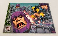 1994 Fleer Ultra X-Men Greatest Battles Wolverine vs. Sentinels #4 NM+