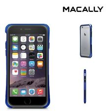 New MACALLY PC/TPU Protective Frame Case for Apple iPhone 8 - Metallic Blue