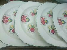 "Vintage 1950s Alfred Meakin 'Bill & Ben' Flower Pot x5 Dinner Plates 9.5"""