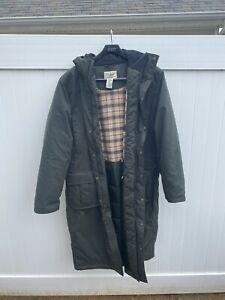 LL Bean Men's Large Nor'easter Commuter LONG Parka Green Coat Gore-Tex XXL