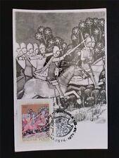 UNGARN MK 1971 RITTER PFERD HORSE MAXIMUMKARTE CARTE MAXIMUM CARD MC CM c7743