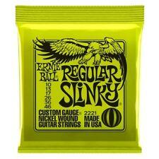 Ernie Ball Regular Slinky Nickel Wound Electric Guitar Strings Gauge 10-46 2221