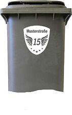 Besonderer Mülltonnenaufkleber Mülleimer Hausnummer Mülltonne Aufkleber