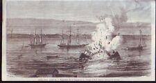 1869  --  BREST  PORT NAPOLEON  EXPLOSION DE LA DRAGUE
