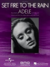 Set Fire to the Rain  Easy Piano Sheet Music Adele NEW 000117058