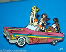3 HOOTERS GIRLS DOUGLASVILLE GEORGIA RIDE COUPE D'VILLE CAR LAPEL PIN RESTAURANT