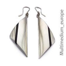 Silber Ohrringe Holz Dreieck silver earrings wood triangle triangle 🌺🌺🌺🌺🌺