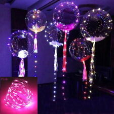 """Colorful Christmas Decal Led String Light With Transparent Helium Balloons 20"""""""