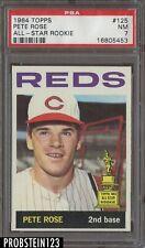 1964 Topps #125 Pete Rose Cincinnati Reds All-Star Rookie PSA 7 NM