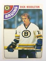 1978 Rick Middleton 113 OPC Boston Bruins O-Pee-Chee Hockey Card 0093M