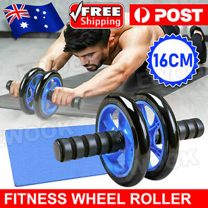 AB Abdominal Waist Workout Exercise Gym Fitness Wheel Roller Wheels fre knee pad