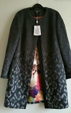 TED BAKER EXOTIC PRINT COCOON COAT .TB SIZE 3 AND 2