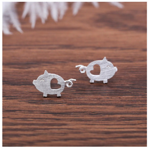 Pig Face Andralok Studs Sterling Silver 925