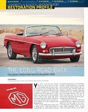 1966 Mg Mgb Roadster B Original Car Review Report Print Article J873