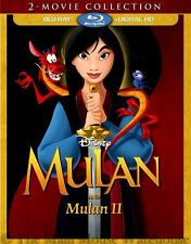 Disney Mulan and Sequel Mulan II 2 Movie Double Pack Blu-ray Disc & Digital Copy