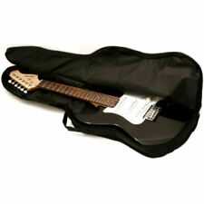 1/2 Size Electric Guitar Padded Soft Case Cover Gig Bag faulty ends metal zips