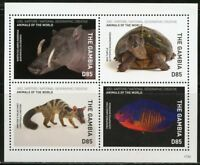 GAMBIA 2018 NATIONAL GEOGRAPHIC SHEET OF FOUR  MINT NEVER HINGED