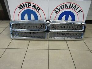 DODGE RAM 2500 3500 Chrome Grill Shell/ Silver Insert Assembly NEW OEM MOPAR