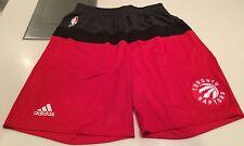 NBA Toronto Raptors Pre Game Training Shorts Basketball Large Adidas w/Pockets