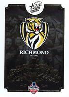 ✺New✺ 2019 RICHMOND TIGERS AFL Premiers Card CLUB LOGO - 1 of 25