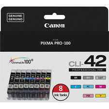 8 Genuine Canon CLI-42 Pro-100 PIXMA 42 ink Pro 100 CLI42  BK C M Y PC PM GY LGY