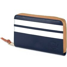 Herschel Supply Co Thomas Leather Wallet - Offset blue peacock