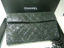 Chanel Iridescent Black Evening Bag with Chain, December 2014