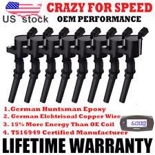 For Ford 4.6L 5.4L 6.8L V8 V10 Set of 8 Ignition Coil Pack DG508 Spark Plug