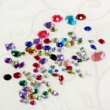 100pcs Hot Flatback Multicolor Rhinestone Beads Assorted Shape DIY Craft Sewing
