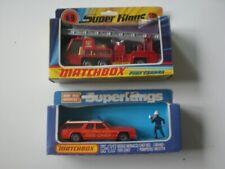 MATCHBOX SUPER KINGS FIRE TENDER K-9 & FIRE CHIEF CAR K-67,Boxed,See Pics.